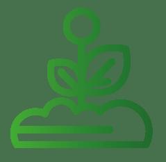 Icon-Symbol zum Garten- und Landschaftsbau