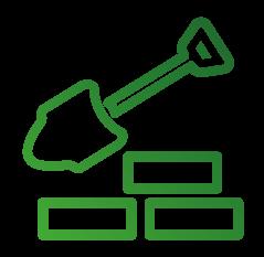 Icon-Symbol zum Thema Bauen
