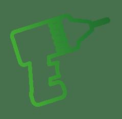 Icon-Symbol zeigt eine Bohrmaschine und steht für den angebotenen Service