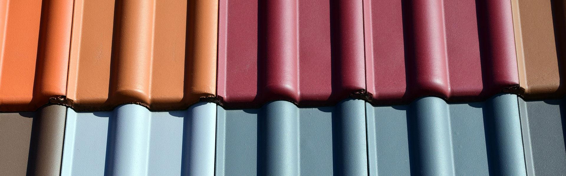 Eine Farbauswahl der Dachziegel