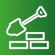 Icon-Symbol zum Thema Bauen und Ausbauen